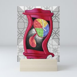 Dali Grandfather Clock Mini Art Print