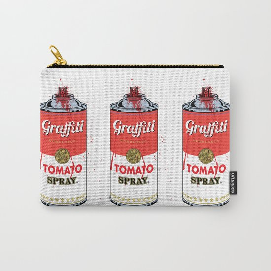 Graffiti Tomato Spray Can Carry-All Pouch