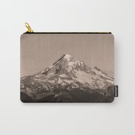 Mount Hood - Black and White - nature photography Carry-All Pouch