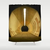 subway Shower Curtains featuring Subway by Matt Callaghan