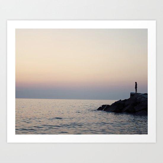 Staring At The Sea Art Print