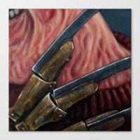 freddy krueger Canvas Prints featuring FREDDY KRUEGER by chris zombieking