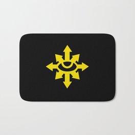 Warhammer 40k Black Legion Minimalist Poster Bath Mat