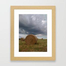 Hay-Bale Framed Art Print