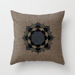 Lotus Mandala on Fabric Throw Pillow