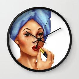 Vintage Pin Up Girl Wall Clock