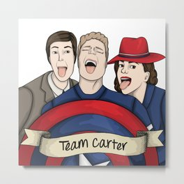 Team Carter - With Banner Metal Print