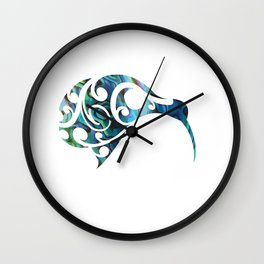 Kiwi Paua Wall Clock