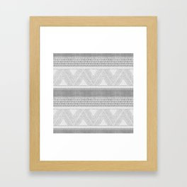 Dutch Wax Tribal Print in Grey Framed Art Print