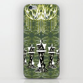 Green and Gold Embellished Queens iPhone Skin