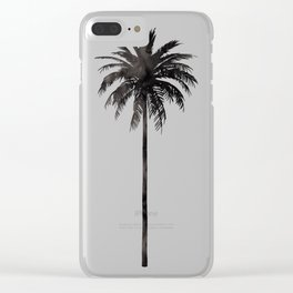 Watercolor Palm Tree Clear iPhone Case