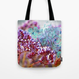 Oh don't worry purple beachy flowers Tote Bag