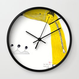 A single rose can be my garden. Wall Clock