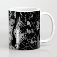 montreal Mugs featuring montreal map by Line Line Lines