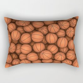 Basketballs Rectangular Pillow