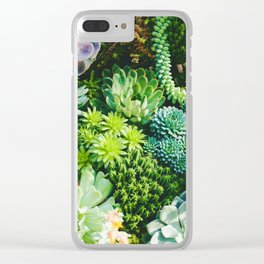 Succulent Paradise Clear iPhone Case