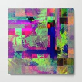 Pastel Geometry X - Abstract, goemetric, pastel coloured, textured artwork Metal Print