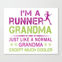 RUNNER GRANDMA Canvas Print