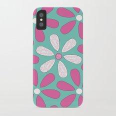 Flower Pattern iPhone X Slim Case