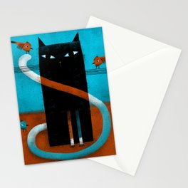 OFFSET WHISKERS Stationery Cards