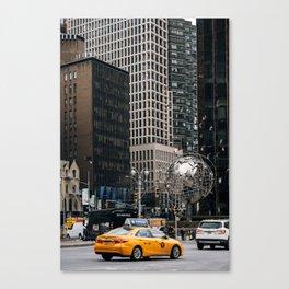 Street scene of Columbus Circle New York City Canvas Print