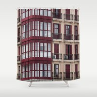 architecture Shower Curtains featuring architecture by LaiaDivolsPhotography