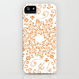 butterfly and flower frac iPhone Case