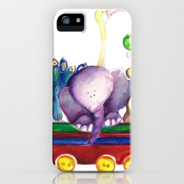 Animals wagon iPhone Case