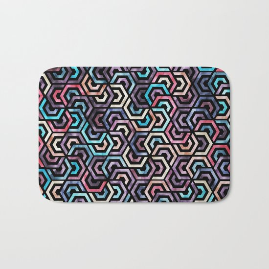 Seamless Colorful Geometric Pattern XXII Bath Mat