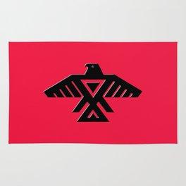 Thunderbird flag - Black on Red variation Rug