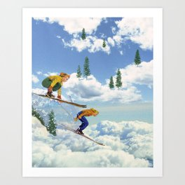 Pow Clouds Art Print