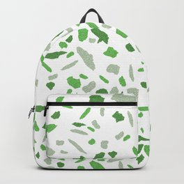 Terrazzo Green and Grey Mosaic Pattern  Backpack