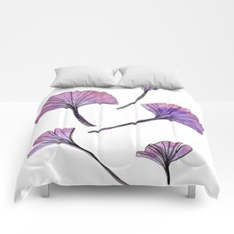 Galaxy Ginkgo Leaves Comforters