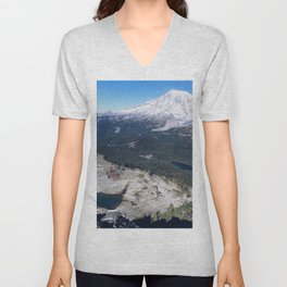Clear Blue Skies and a Mountain View Unisex V-Neck