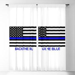 Thin Blue Line Back the Blue Flag Blackout Curtain