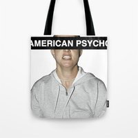 britney spears Tote Bags featuring American Psycho - Britney Spears by hunnydoll