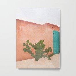 Strong Desert Cactus Metal Print