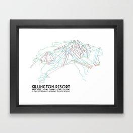 Killington, VT - Minimalist Trail Art Framed Art Print