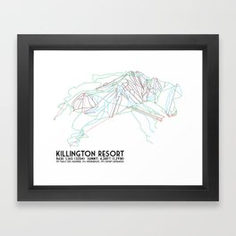 Killington, VT - Minimalist Trail Art Framed Art Print