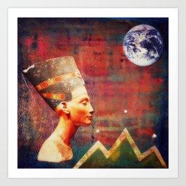 Nefertiti Rising Art Print