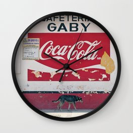 Coca Cola Mexico Stray Dog Wall Clock