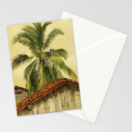 Palm Trees and Housetops, Ecuador - Frederic Edwin Church Stationery Cards