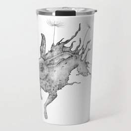 Hare Dandelion Travel Mug