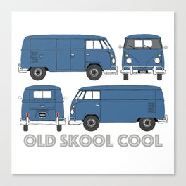 old skool cool – vintage commercial panel van in Dove Blue Canvas Print