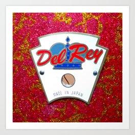 Del Ray Vintage Drum Badge Art Print