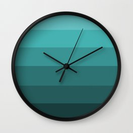 Winter Dark Teal - Color Therapy Wall Clock