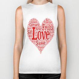 Fruits Of Love  Biker Tank