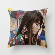 Françoise Hardy Throw Pillow