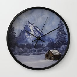 Twin Pines Cabin Wall Clock