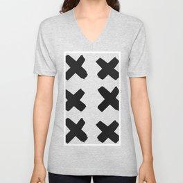 X seamless pattern Unisex V-Neck
